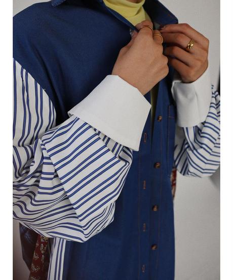 パターンロングシャツ