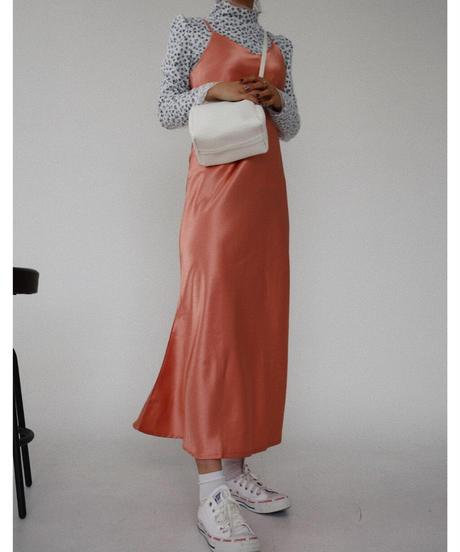 サテンキャミワンピース/ピンク