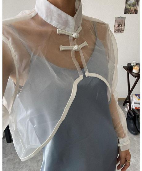 【 予約商品 】チャイナクロップドTP / ホワイト