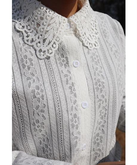 【 予約商品 】パターンレースシャツ