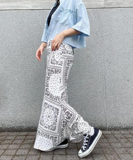 ペイズリーマーメイドスカート/ホワイト