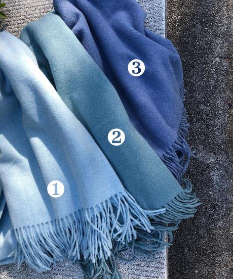blue 3color フリンジマフラー / 再入荷なし