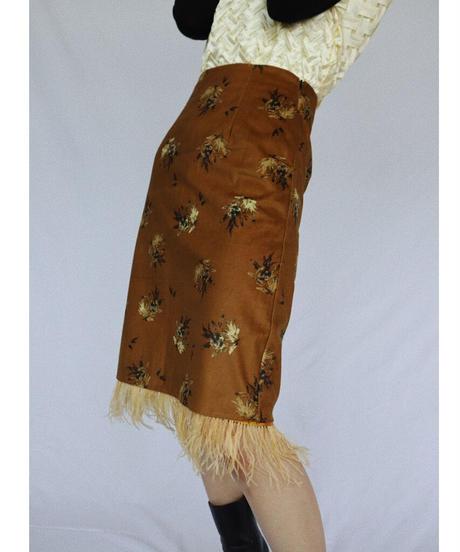スウェードプリーツスカート