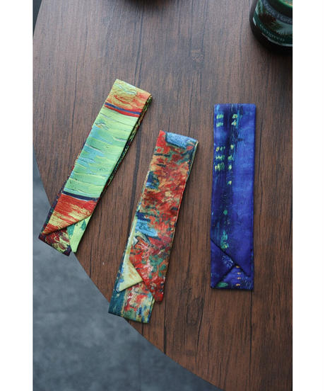 3 colour 絵画スカーフ1ver