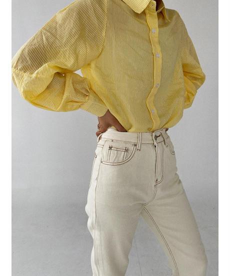 シースルストライプシャツ