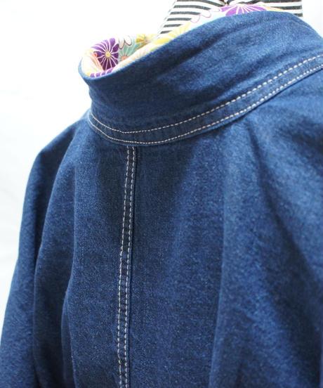 ★ポケット付き★レディース・デニム着物 対丈Mサイズ / インディゴ