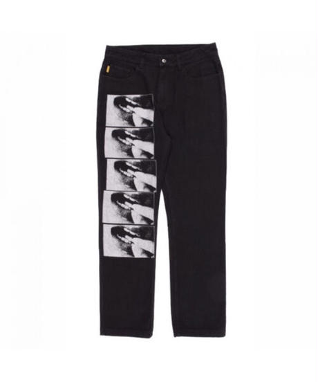 PLEASURES / swallow denim jeans black