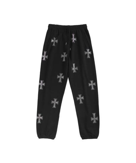 UNKNOWN / cross rhinestone  jogger pants