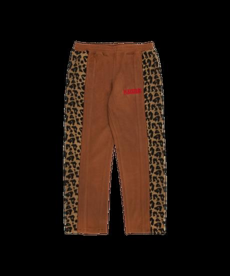 PLEASURES / memories velour pants brown