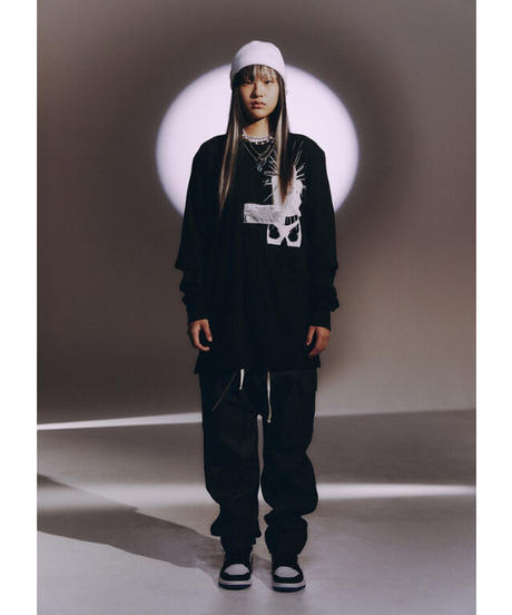 SUNDAYOFFCLUB / zipper drop crotch pants