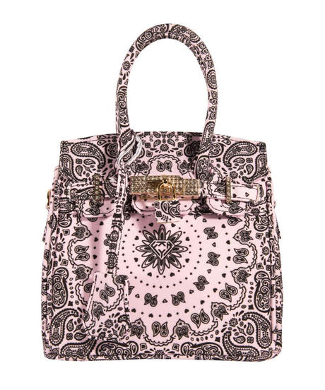 HERMETIC / paisley mini bag pink