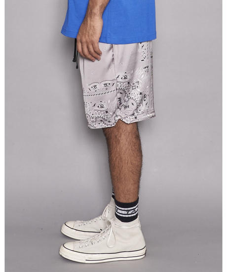 TAIN DOUBLE PUSH / paisley shorts gray