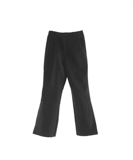A oymous / 01 pleated layers pants black