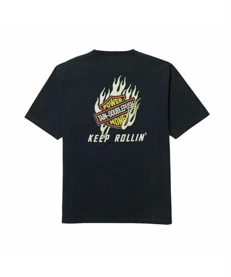 TAIN DOUBLE PUSH / keep rollin' s/s tee black