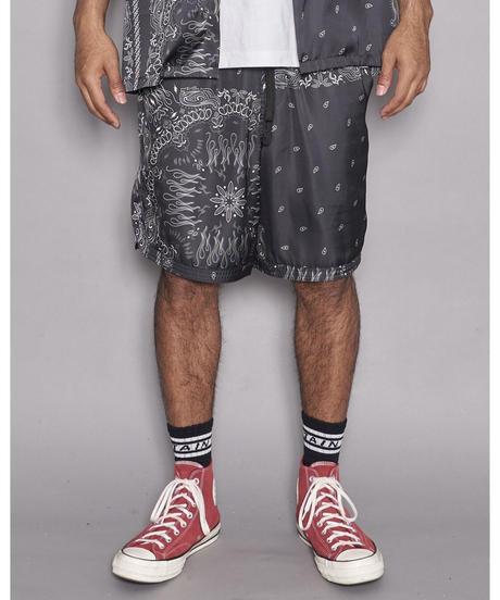 TAIN DOUBLE PUSH / paisley shorts black