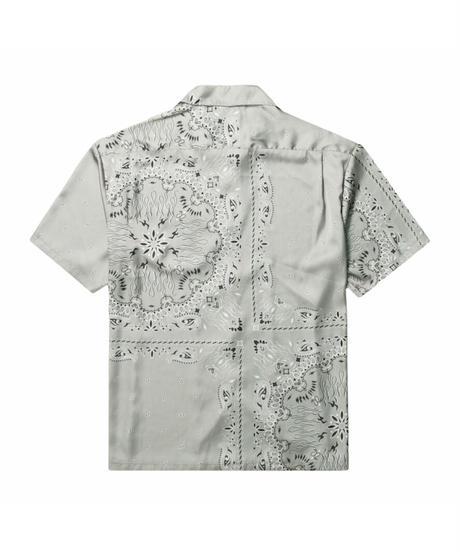 TAIN DOUBLE PUSH / paisley open collar shirts gray