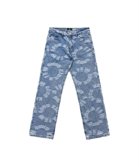 A FEW GOOD KIDS / circle logo denim pants