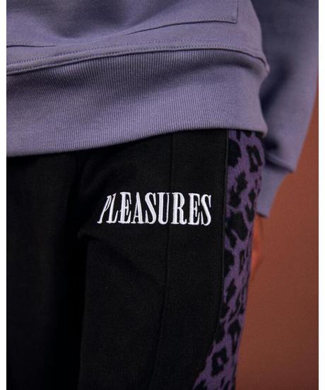 PLEASURES / memories velour pants  black