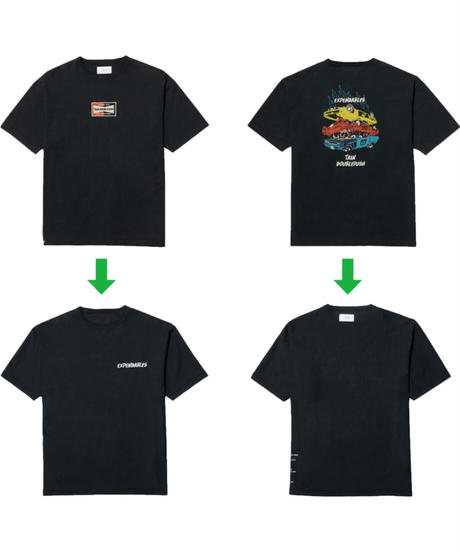 TAIN DOUBLE PUSH / expendables s/s tee black