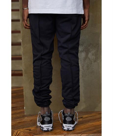 MLVINCE / side ruche sweat pants black