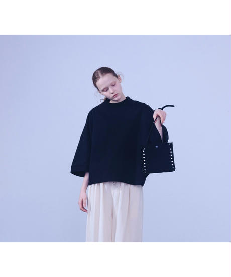 "KNIT BAG  "" S ""  BLACK"