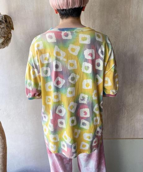 □◯多色スパンコールTシャツ