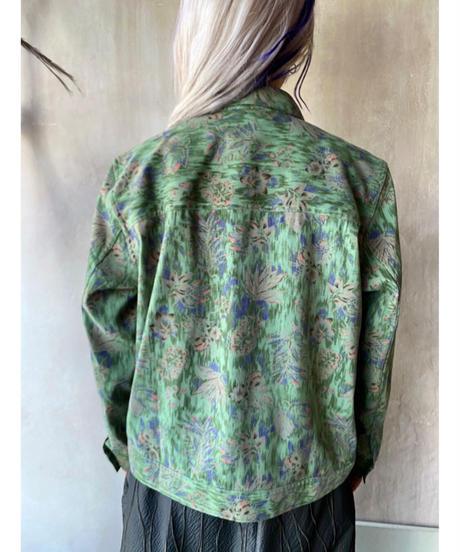ザクザク植物柄ジャケット
