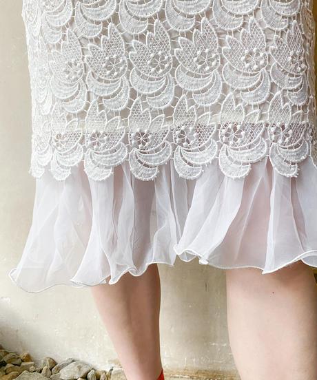 白レーススカート
