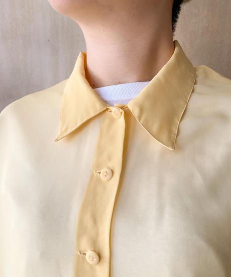 シースルーイエロー半袖シャツ