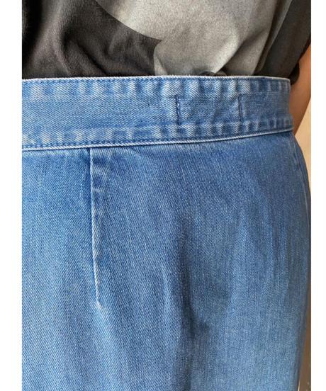 アイスブルーデニム二重スカート