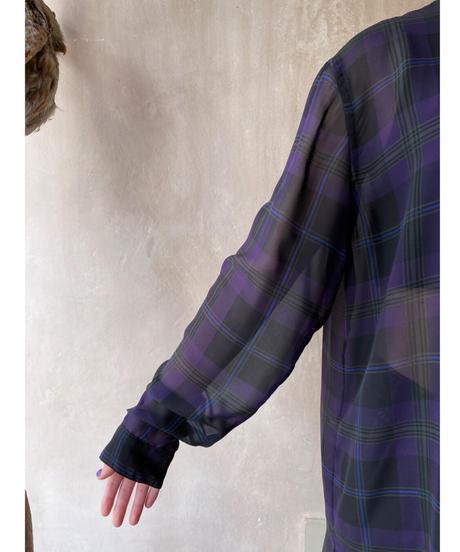 Ralph Laurenシースルーチェック柄シャツ