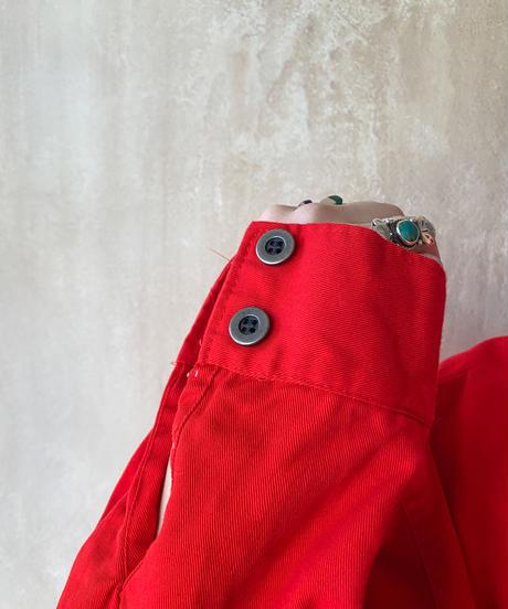赤ウエスタンビブフロントシャツ