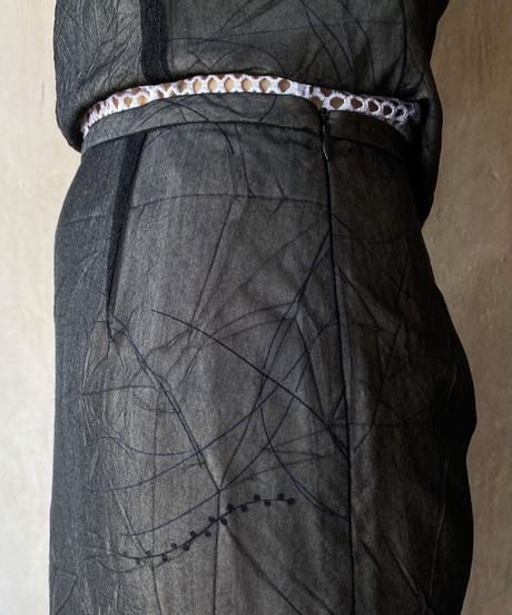 ブラック花柄シースルーセットアップ