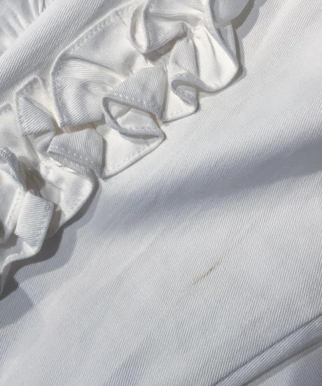 白袖フリルブラウス
