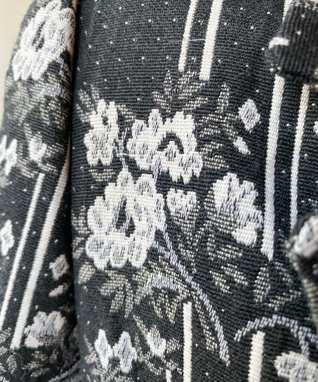 黒白花ジャガードジャケット