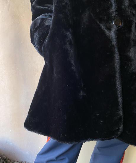 黒フェイクファーコート