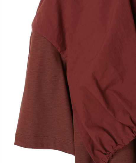 【AKIRA NAKA】Gathaer Tops/BROWN