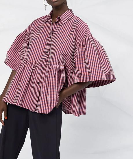 【HENRIK VIBSKOV】Gingham Check shirts