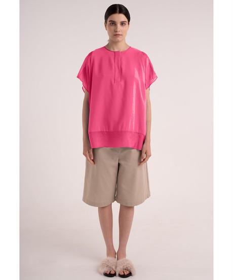 【NEHERA】Silk panel blouse
