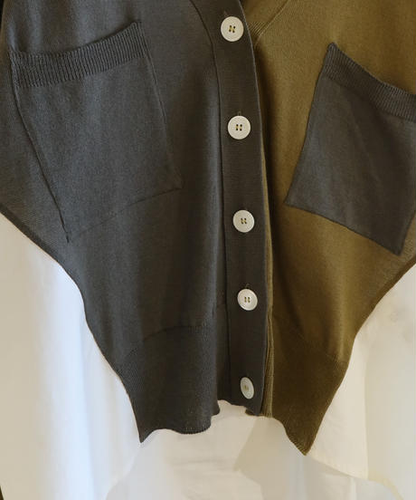 【TELA】 Color block cardigan