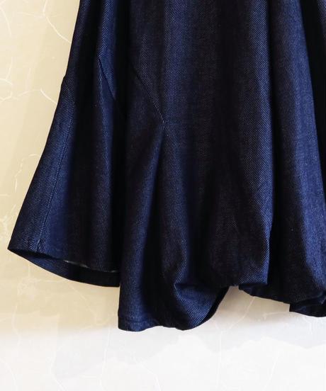 【RUMCHE】Asymmetry denim skirt/ indigo