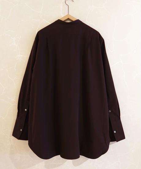 【STUDIO NICHOLSON】ASUKA powder cotton shirt/Chocolate