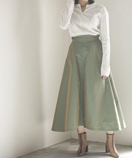 【Lallia Mu】Tamamushi-color skirt