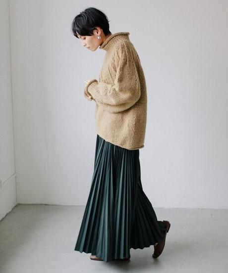 Hand knit pullover/Beige