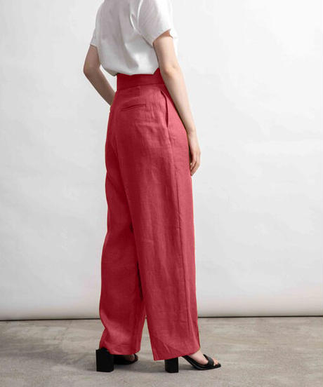 Linen  high-waisted pants