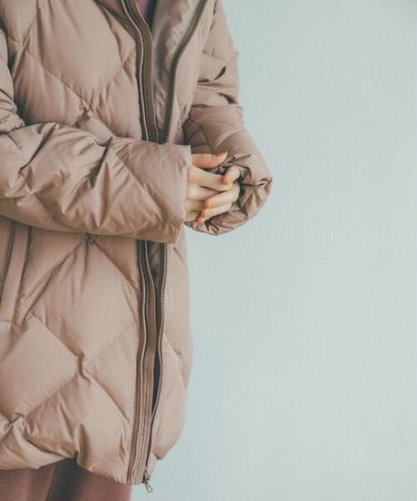 Quilting down coat/Beige