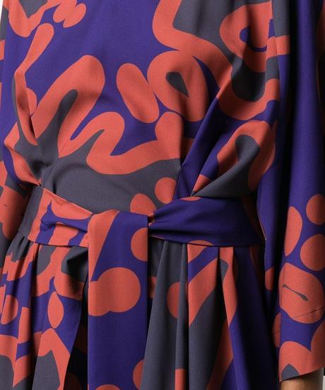 【HENRIK VIBSKOV】Abstract pattern belted one-piece