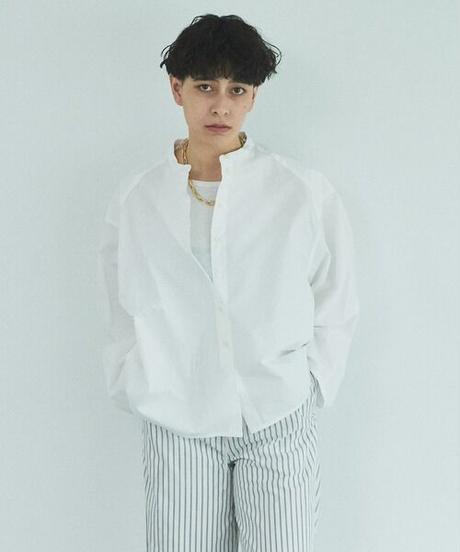 Typewriter puff sleeve shirt/White