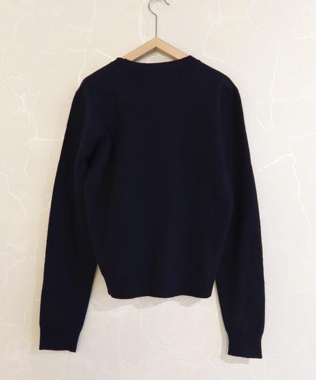 【 STUDIO NICHOLSON】Felted crew neck knit/Dark Navy
