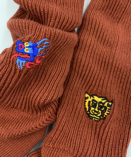 タイガー&ドラゴンソックス_ブラウン
